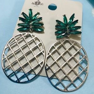 Jewelry - SILVER PINEAPPLE NOVELTY EARRINGS